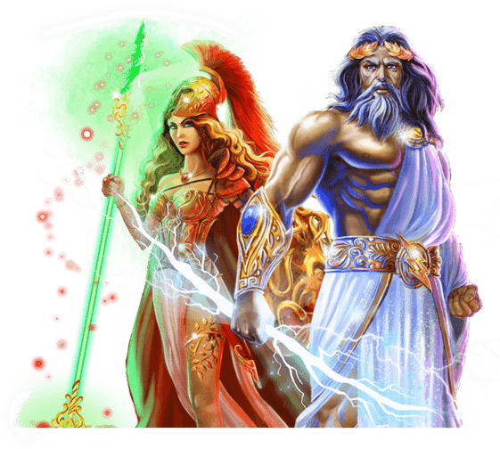 Online Spielautomaten Illustration von Age of the Gods
