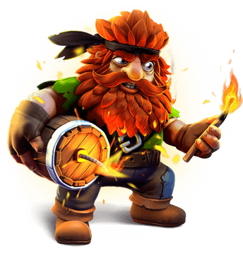 Online Spielautomaten Illustration von Dwarf Mine